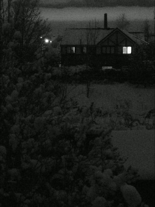 Night-time snow landscape