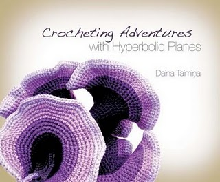 Book cover showing a crocheted hyperbolic plane